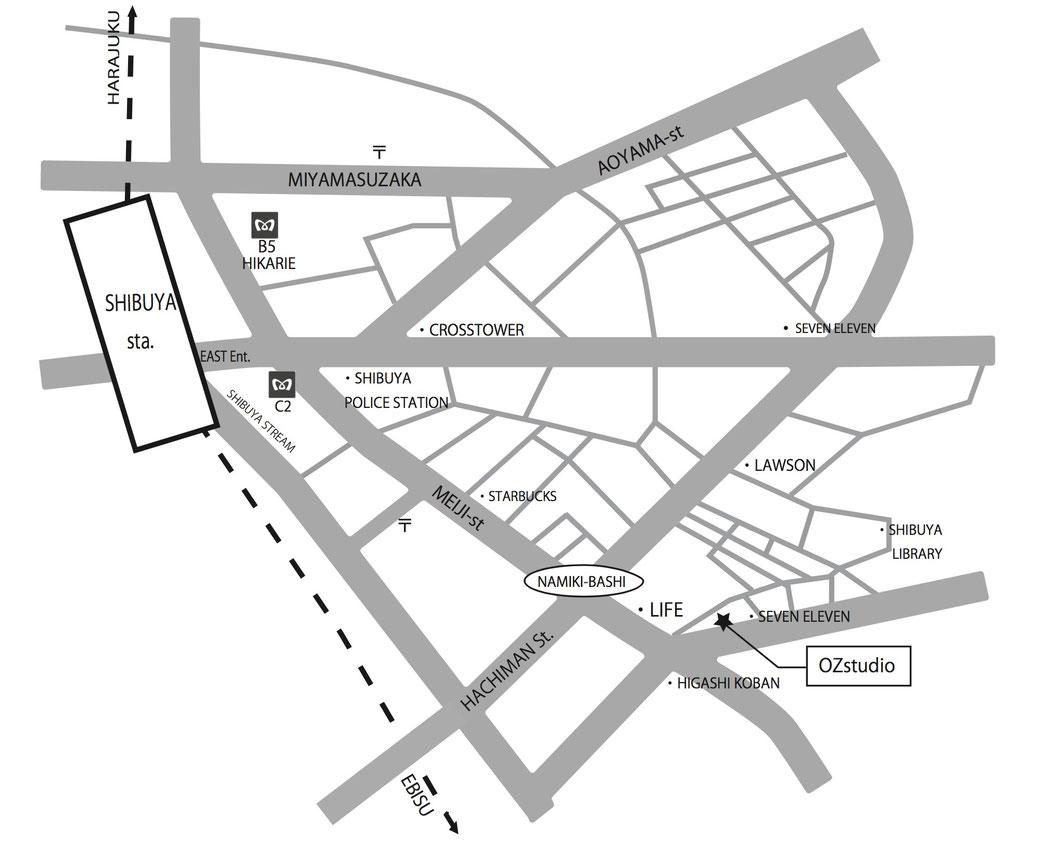 ozstudioの地図