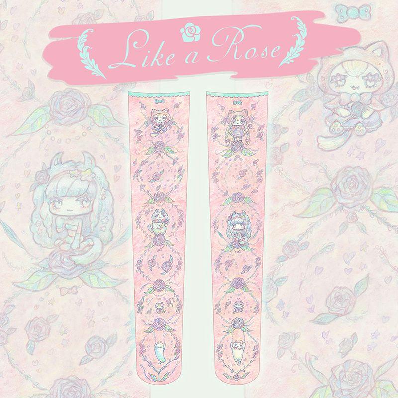 温井裕子×PredatorRat「Like a Rose」ニーハイ(うしじまいい肉Presents)
